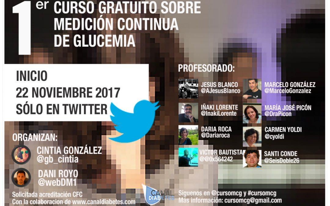 Breves – Curso gratuito de medición continua de glucemia en Twitter
